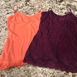 Maurice's Lot of 2 Cami/tanks